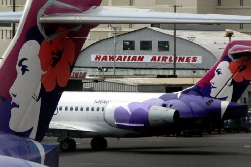 The old Hawaiian Airline Hangar with the beautiful logo on the tail of the Hawaiian Airline planes. It looked like something from an episode of Hawaii 5-0!