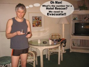 This hotel room was one time I needed to call a hotel emergency for a quick evacuation!