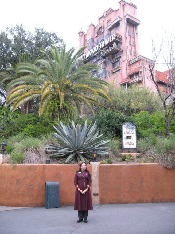Hollywood Studios' Twilight Zone Tower of Terror keeping an eye out for future victims...