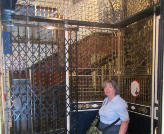 The world reknown oldest working birdcage elevator at the Victoria Maritime Museum in British Columbia.