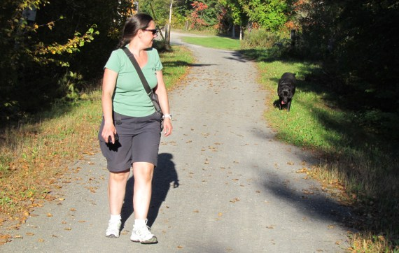 After our picnic lunch and tour of Fredericton we went to Hyla Amphibian Park in Fredericton and when we stopped to walk the trail we had our own personal guide! Dahlila the Black Lab gave us a tour of the trail. We didn't see the frog ponds as we were tired and wanted to drive home…next time!