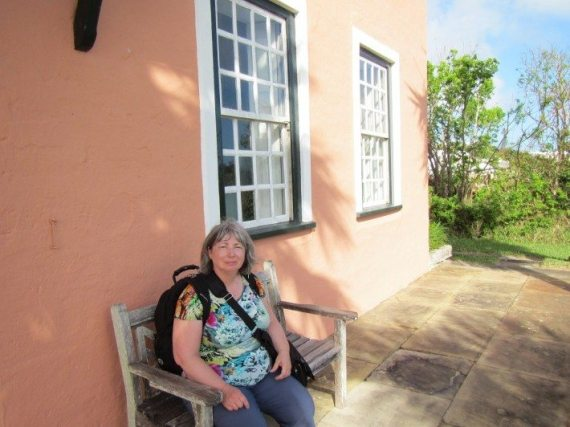 Mama D taking a well deserved break at Verdmont House in Bermuda