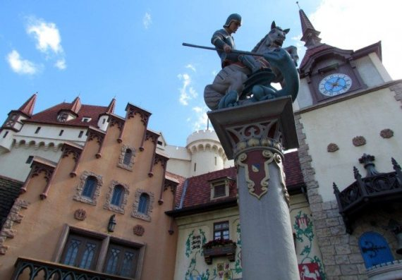 The German Pavillion at EPCOT. Every country you visit really makes you feel like you are there!