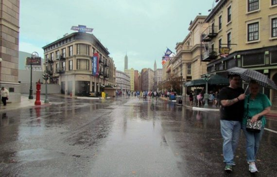 After we got out of the Muppets in 3D at WDW the rain was just finishing and the streets were pretty barren and this view of a forced perspective of New York looked very neat with the clouds and you really felt like you were in a NYC street!