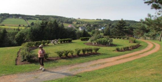 We enjoyed a beautiful walk on the hills of the Garden of Hope at the PEI Prserve Company. The large garden was the highlight of my day.