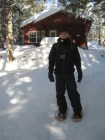 Mersey River Chalet 2 - Dami and his snowshoes
