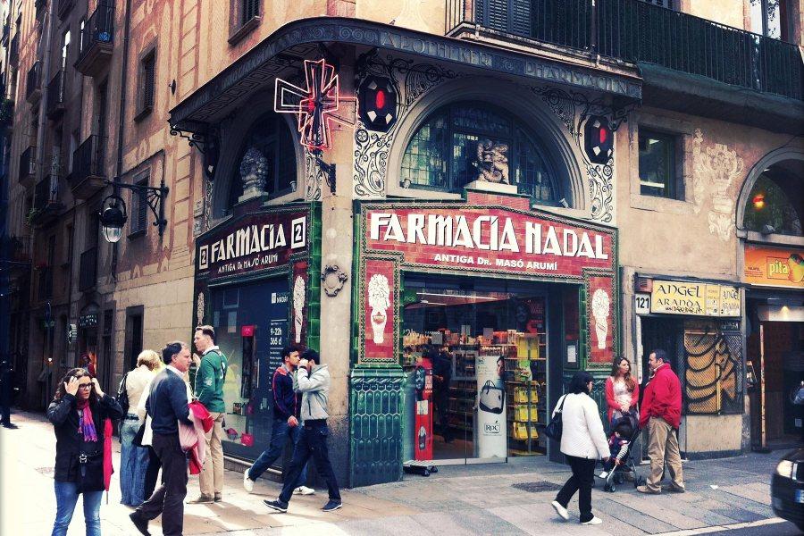 Farmacia Nadal Ramblalla. © tripsteri.fi / Tuulia Kolehmainen