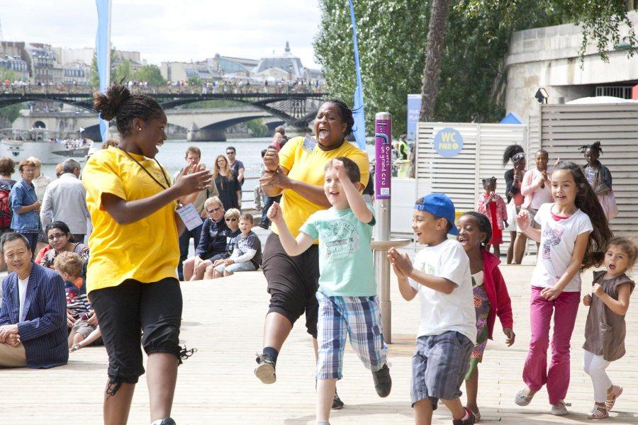 Paris Plages -festari tuo riehakkuutta kesään. © tripsteri.fi / Anuliina Savolainen