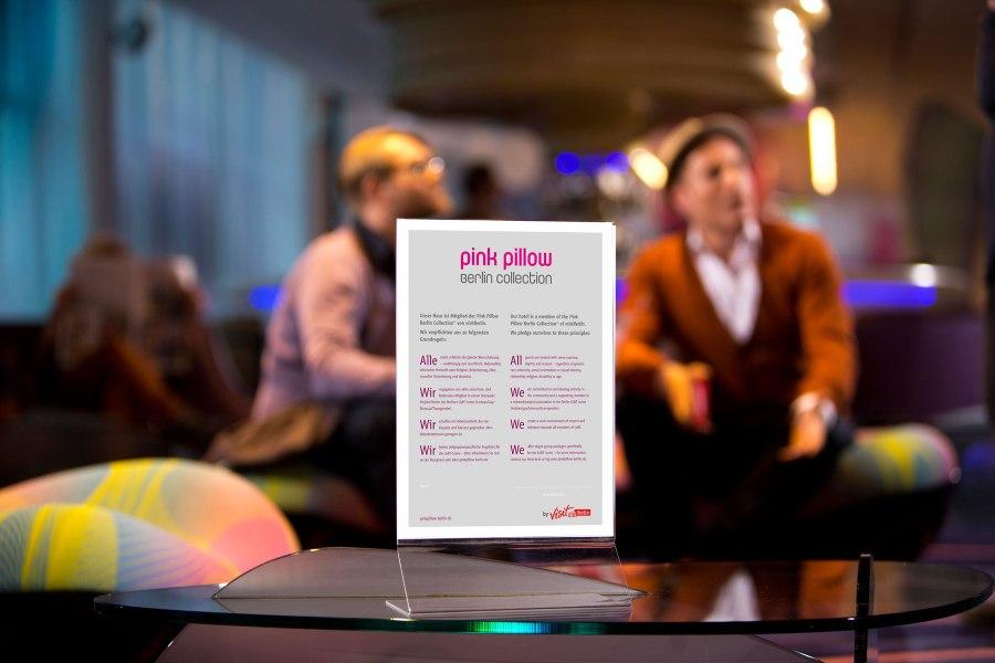 Pink Pillow -sertifikaatti. © visitBerlin, Dirk Mathesius