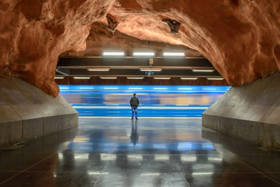 Tukholman metrossa. Kuva: Arild Vågen, www.flickr.com, CC BY-SA 2.0