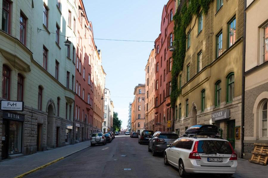 Hiljainen asuinkortteli Kungsholmenissa. Kuva: Soile Vauhkonen