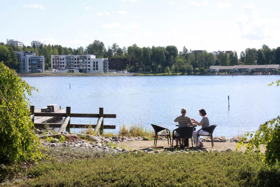 Myös Kenkävero sijaitsee Saimaan rannalla.