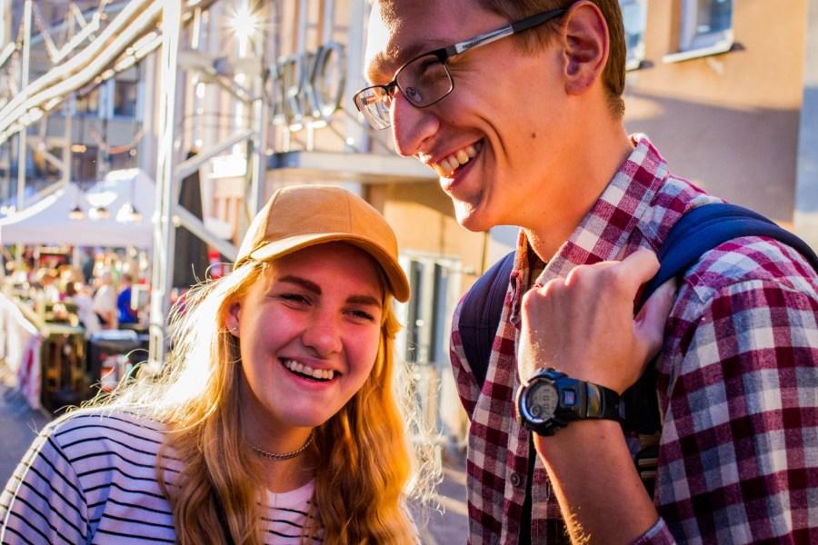 Anya ja Dima saapuivat festareille Pietarista. © Aapo Kojo