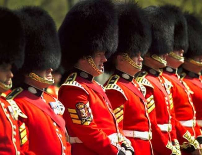 Changing the Guard at Buckingham Palace in London