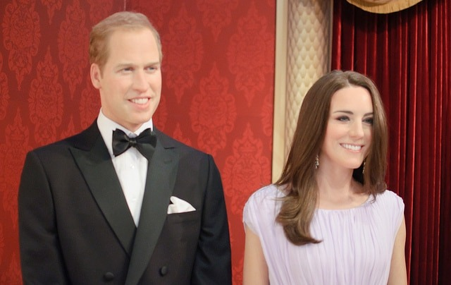 William and Kate at Madame Tussaud's in London