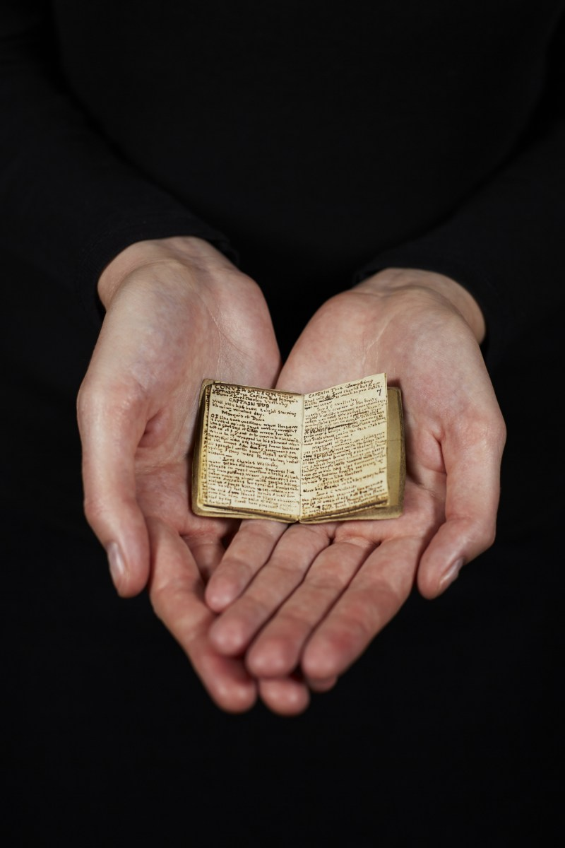 Photograph: Brontë little book, courtesy of The British Library