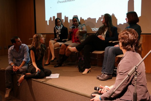 Group talk at the NY Trav Fest 2014