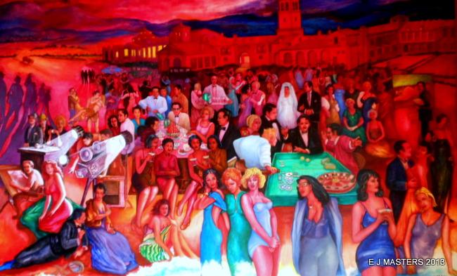 ensenada movie star mural, mexico, trip wellness