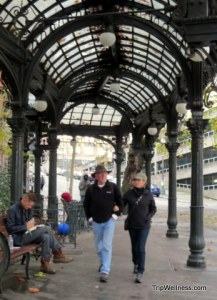 What to do in Seattle, Pioneer Square Pergola, Trip Wellness