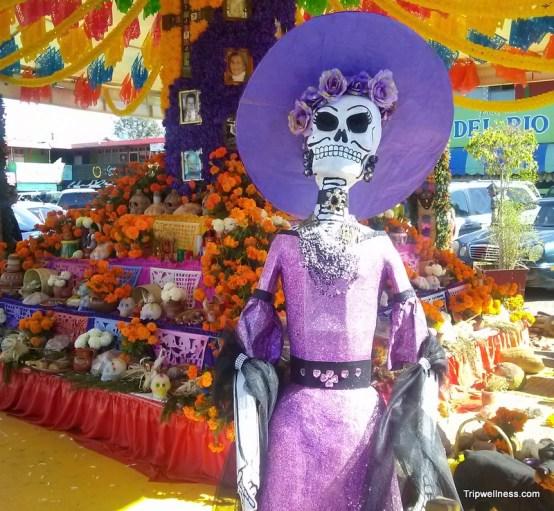 Tijuana's largest Dia de Muertos altar in Mercado Hidlago