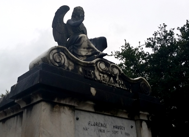 Cemetery angels watch over Lafayette No. 1