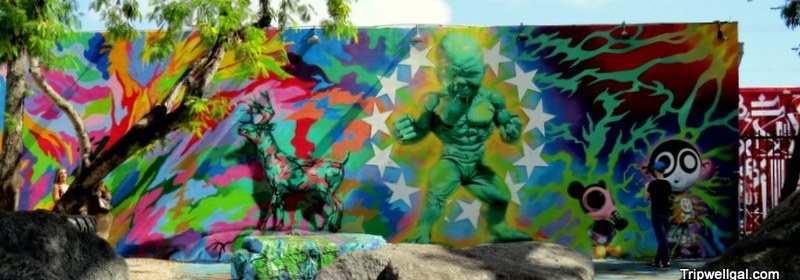 Wynwood Walls murals are full of color.