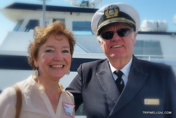 Captain and Elaine on our Sunday brunch cruise.