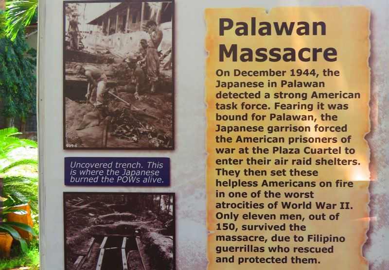 Remembering the massacre near the war museum in Puerto Princesa