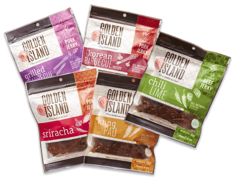 Golden Island Jerky are fine snack ideas