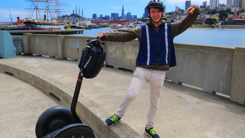 Riding a Segway bliss