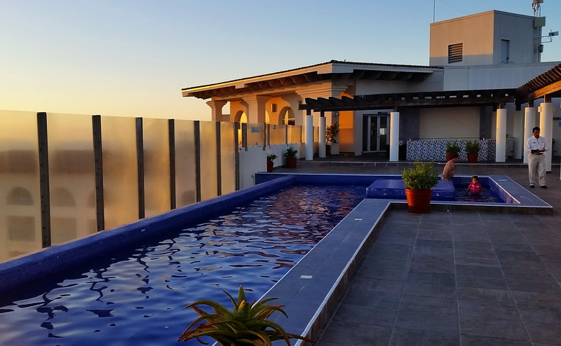 The Rosarito Beach Hotel, members only, rooftop pool