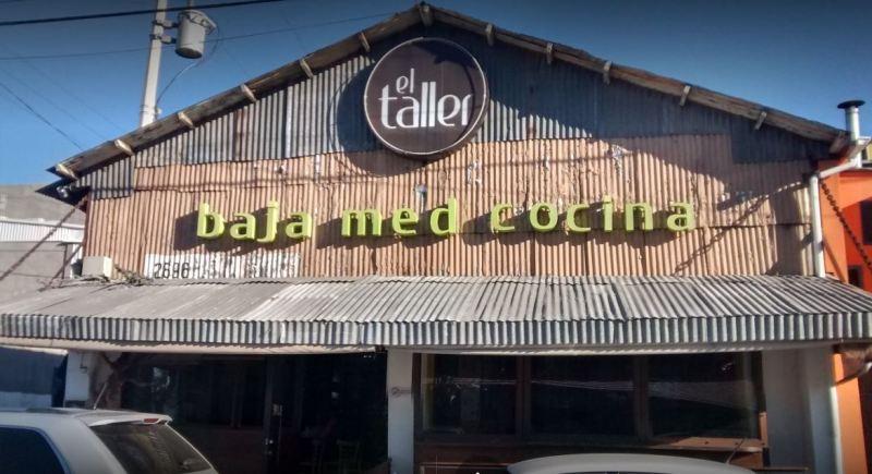 The entrance to El Taller, Baja Med Cocina