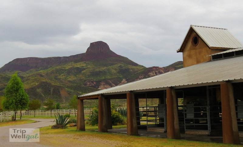 Lajitas Stables and bluff