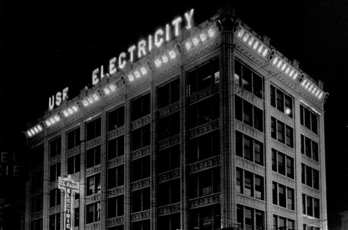 Original Use Electricity sign in downtown El Paso