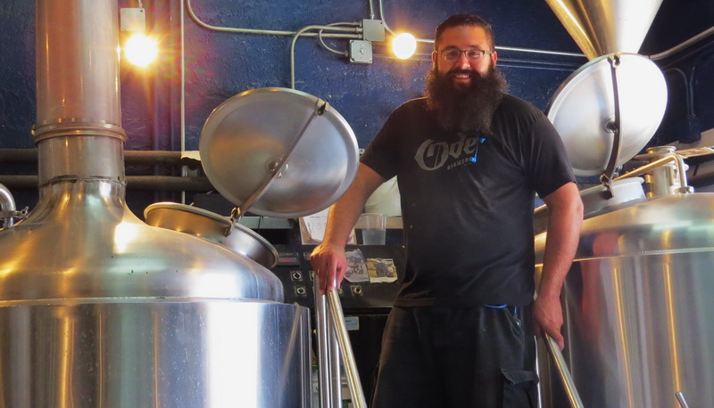 Master brewer, Albert, at work inside the ODE Brewery, El Paso