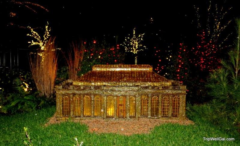 Longwood lights miniature train building