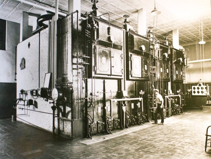 Boiler room of Longwood Lights worked to warm the Conservatories into the 1960's!