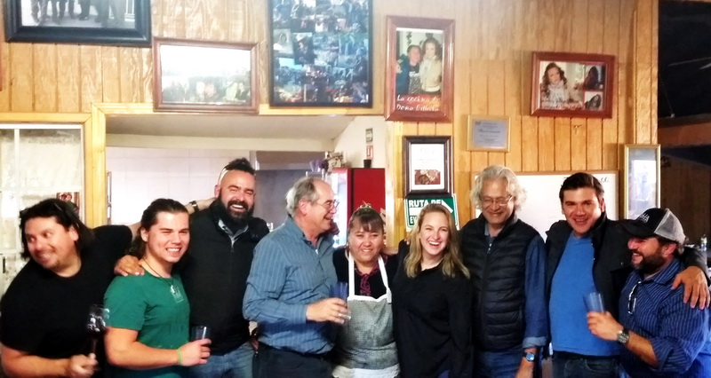 Baja wine and food makers making merry