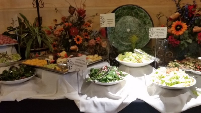 One of the Sunday Brunch tables at the Hacienda Del Sol Luxury Resort
