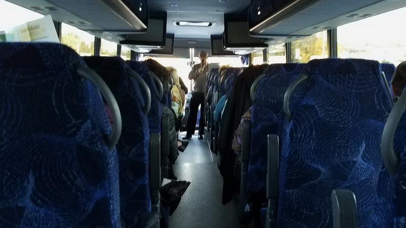 Bus for ride to Academy Awards Symposium