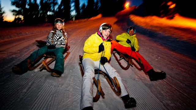 Night sledding from the mountaintop with Outdoor Interlaken