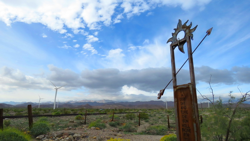 Desert art between Ocotillo Wells and Borrego Springs