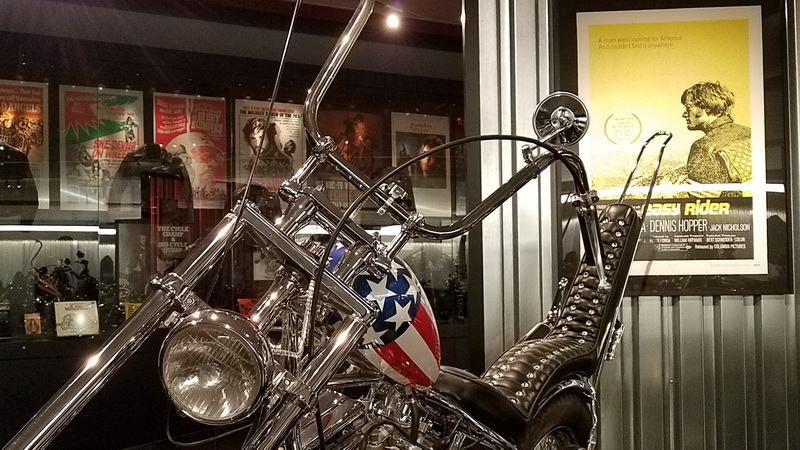 The Easy Rider motorcycle replica inside the Harley Davidson musuem
