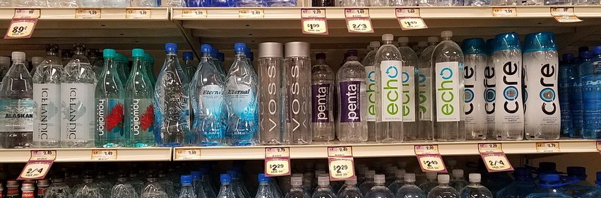 Bottled water options
