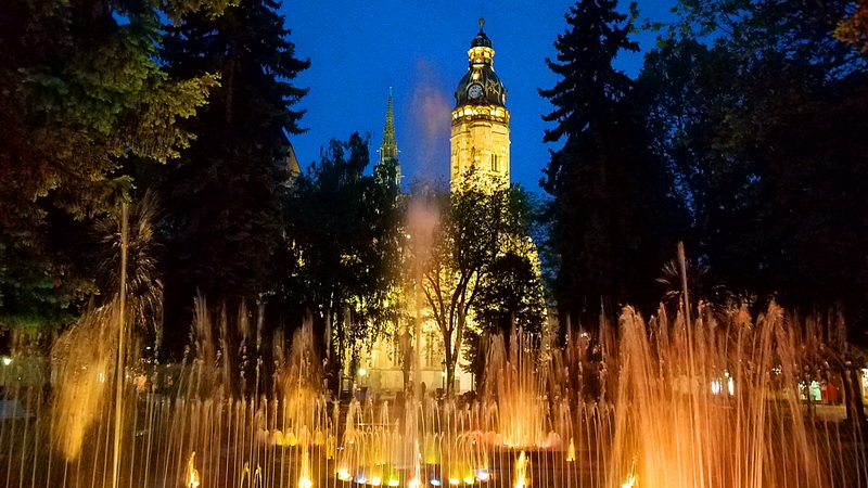 The singing fountain in Kosice, Slovakia