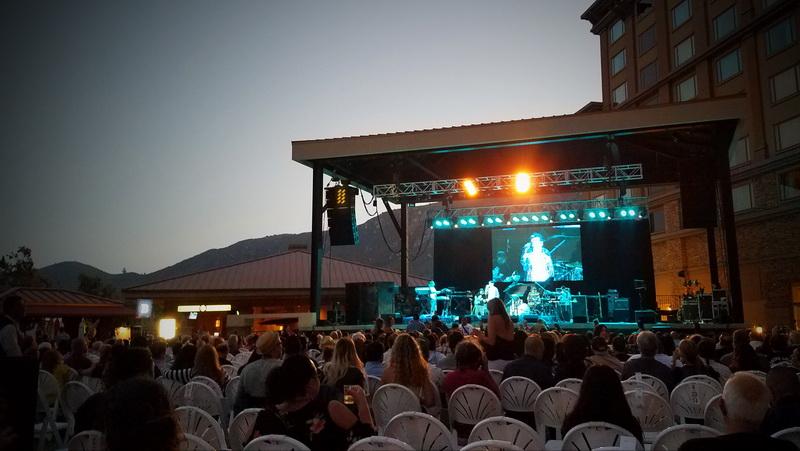 concert seating at Pala Casino Resort at dusk