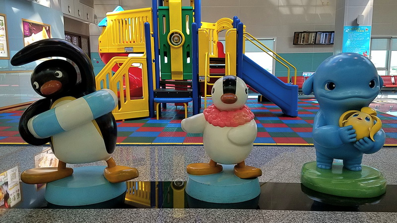 Taiwan airport children's play area characters