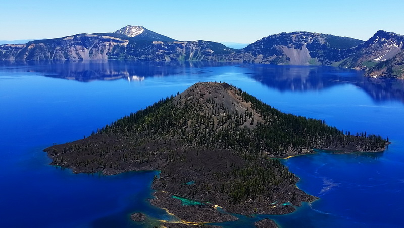 Crater Lake view and the water is more electric blue than a camera can capture.