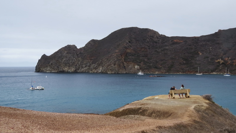 Catalina Harbor viewpoint across the isthmus
