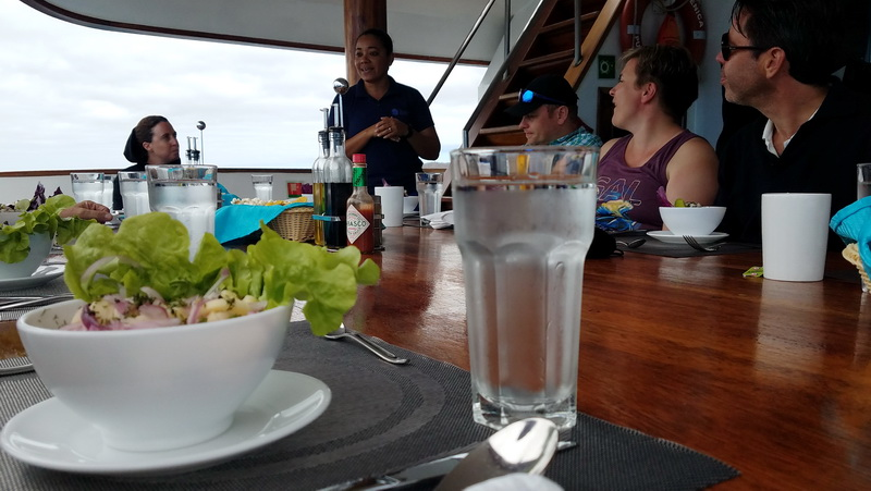Lunch featuring Ecuadorian Ceviche on the Sea Star
